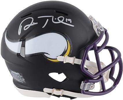 8a2dfa563 Image Unavailable. Image not available for. Color  Adam Thielen Minnesota  Vikings Autographed Riddell Black Matte Alternate Speed Mini Helmet ...