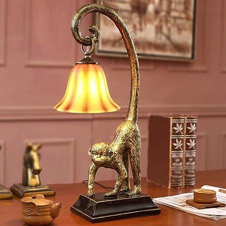 YC electronics Lámparas de Escritorio American Style Resina Retro ...