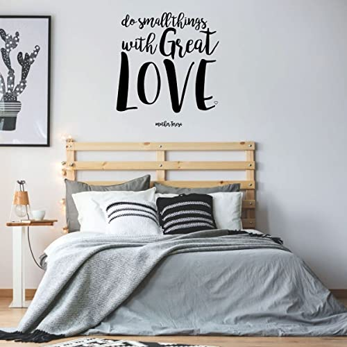 . Mother Teresa Quote Wall Art   Do Small Things With Great Love   Christian  Vinyl for Home Decoration or Teen s Bedroom