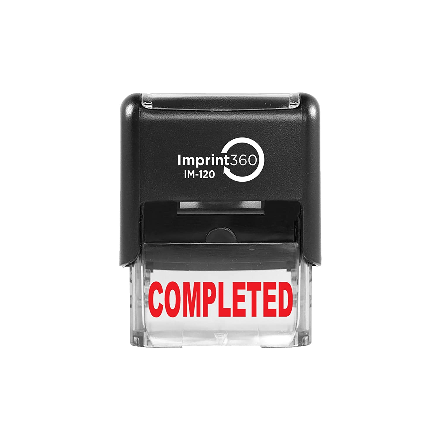 Imprint 360 AS-IMP1031 - Completed, Heavy Duty Commerical Quality Self-Inking Rubber Stamp, Red Ink, 9/16