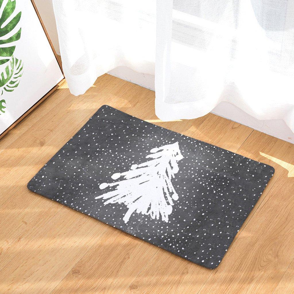 UK 3D Thicken Flannel Non-Slip Door Home Bath Mat Rug Kitchen Bathroom Floor Mat