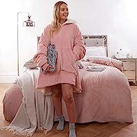 Sienna Hoodie Deken Ultra Zachte Sherpa Fleece Warm Cosy Comfy Oversized Draagbare Reus Sweatshirt Gooi voor Vrouwen…