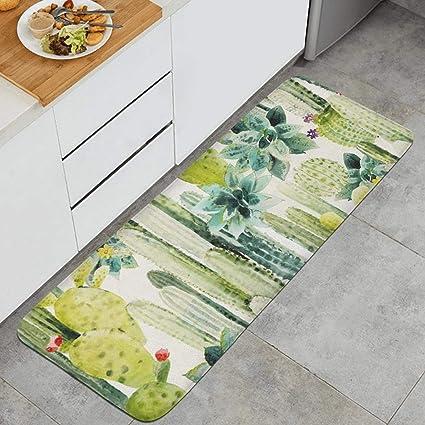Amazon.com : HYUSDW Cactus Flowers Cactus Floor Runner Rugs ...