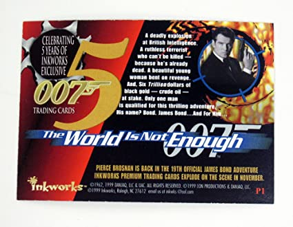 JAMES BOND THE WORLD IS NOT ENOUGH SHAKEN NOT STIRRED CARD S1