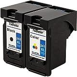 ToBeter Remanufactured PG-240XL CL-241XL Ink Cartridge Uesd in Canon PIXMA MG3620 MG3520 MG2220 MG3220 MG3522 MX472 MX452 MX522 MX532 MX392 MX432 MX512 (1 Black, 1 Tri-Color)