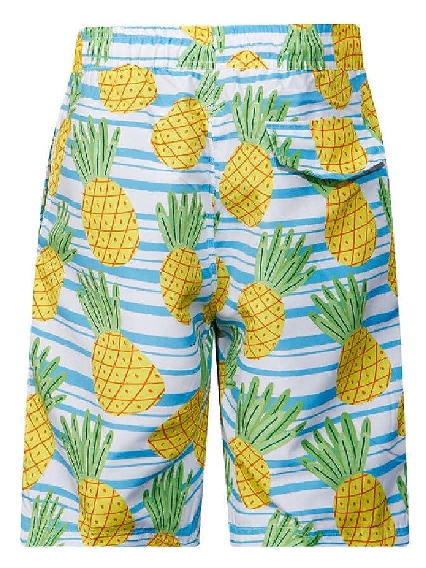 Yayu Mens Fashion Print Beach Board Shorts Quick Dry Swim Surf Trunks