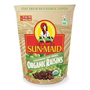 Sun-Maid Organic Raisins - Dried Fruit Snacks - Healthy Snacks For Kids - 32oz (One 2 LBS Resealable Bag)