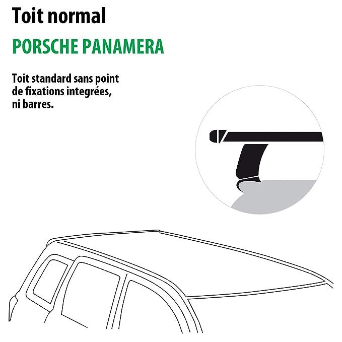 Rameder Pack barras de techo squarebar para Porsche Panamera (140849 - 37074 - 1-fr): Amazon.es: Coche y moto