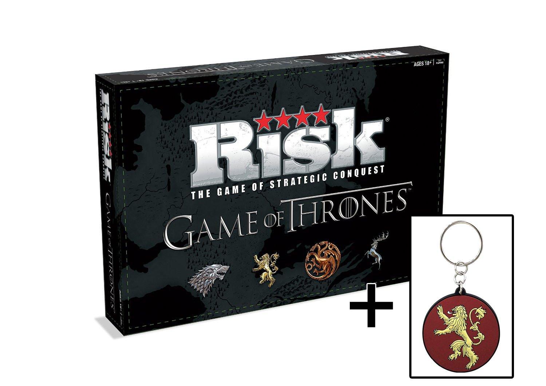 Game of Thrones Risiko (Englisch mit dt. Anleitung) + Schlüsselanhänger Lannister