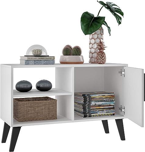 Manhattan Comfort Amsterdam Mid Century 3 Shelf Living Room TV Stand