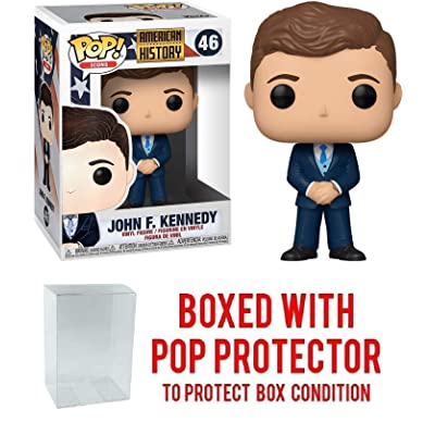 John F Kennedy #46 Pop Vinyl Figure Pop Icons: American History (Includes Ecotek Pop Box Protector Case): Toys & Games [5Bkhe0201070]