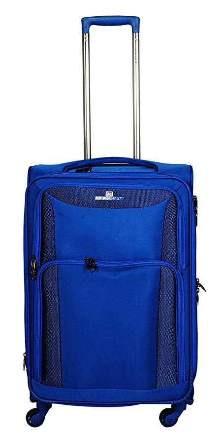 bf675a0187 Ventex Polyester Royal Blue Suitcase   Trolley Bag  Amazon.in  Bags ...