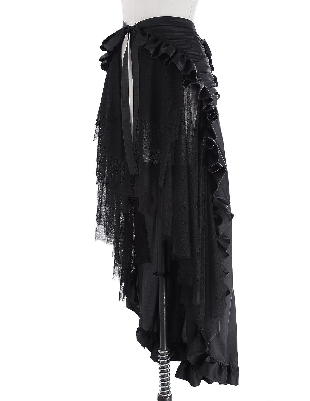 6da322dd0 Amazon.com: GK Vintage Dress GK Steampunk Retro Victorian Punk Cincher Lace  up Long Ruffle Pencil Skirt: Clothing