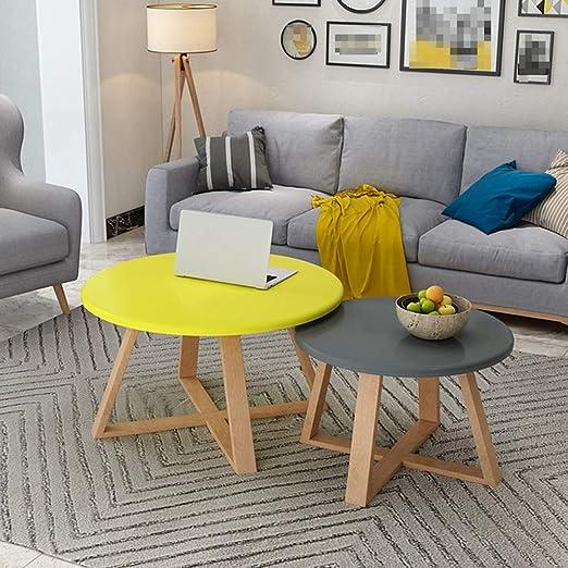 Amazon.com: Nordic Coffee Table, Wooden Multifunction Living ...