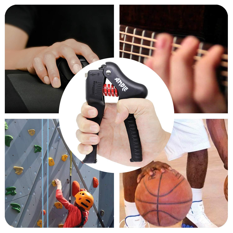 Einstellbarer Handtrainer Unterarme und Handgelenke f/ür Handgriffs Finger 25-70 Kg // 55-154 LB Amble Fingerhanteln