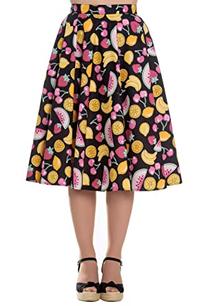 e427975c2242e Hell Bunny Tutti Frutti 1950 s Flare Skirt at Amazon Women s ...