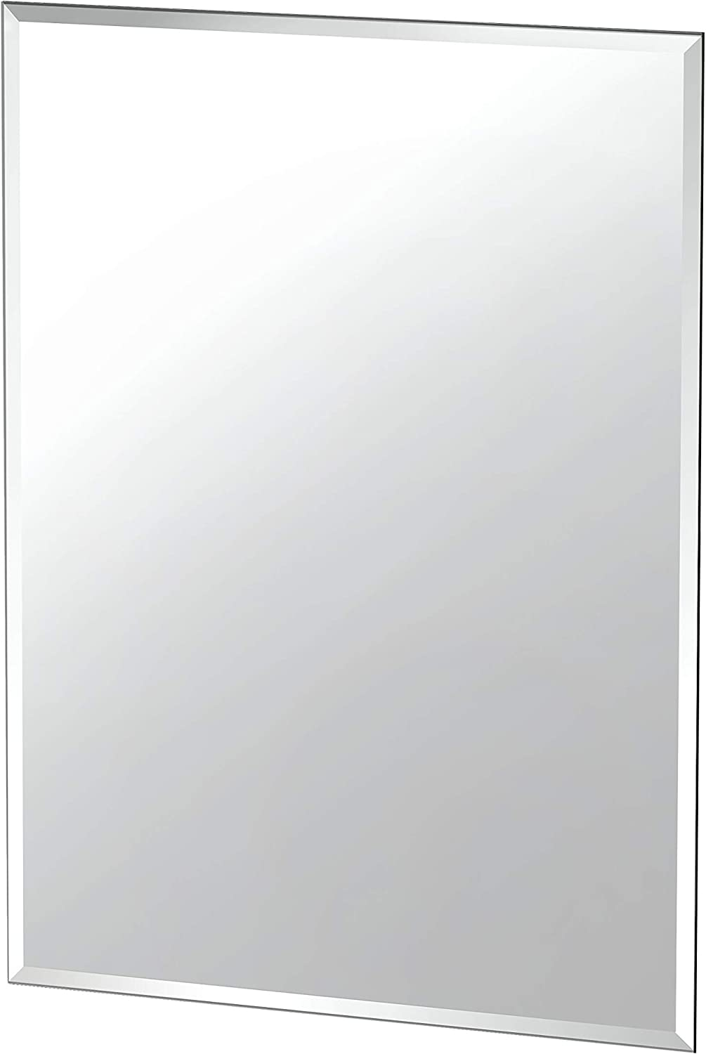 "Gatco Beveled Easy Mount Mirror, 31.5"" H x 23.5"" W, Silver: Home Improvement"