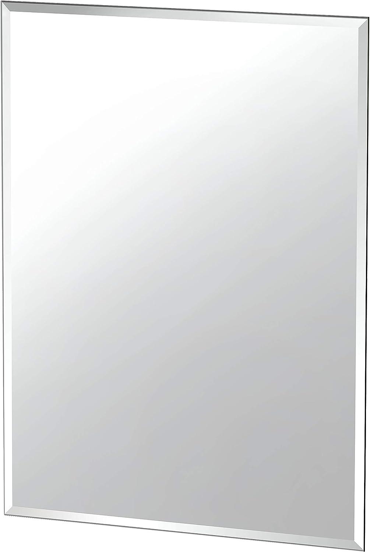 "Gatco Beveled Easy Mount Mirror, 31.5"" H x 23.5"" W, Silver: Home Improvement"