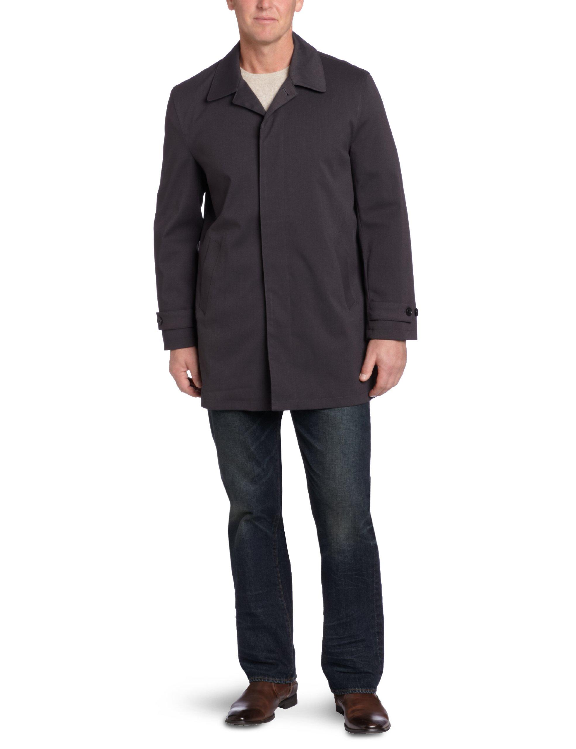 Michael Kors Men's Patterson Rain Coat, Charcoal/Black, 46 Regular