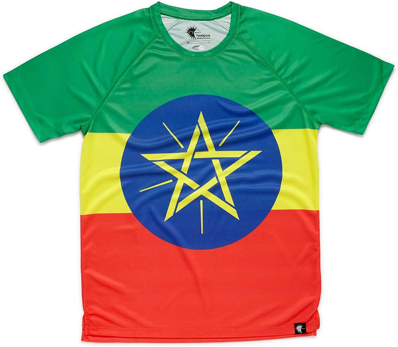 HOOPOE Camiseta Atletismo Etiopia Niño, Niña, Manga Corta