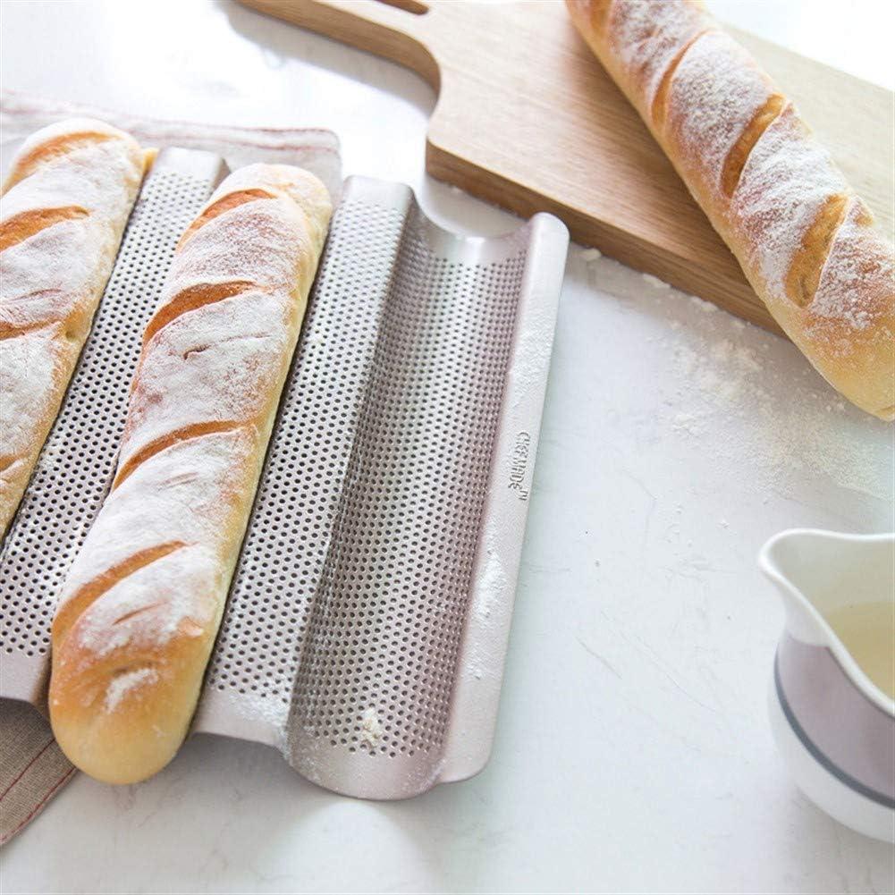 QYXJJ Ycake Stampo per Pane Francese Antiaderente Stampo per Pane Francese Mini Baguette Teglia per Dolci Pane per la casa Stampo per Dolci Baguette Wave Pane Francese Bakeware