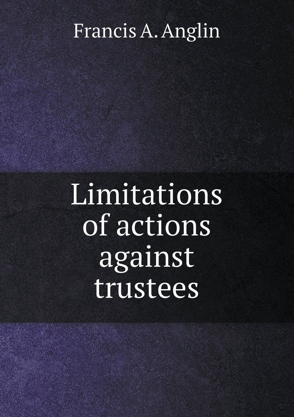 Download Limitations of actions against trustees ebook