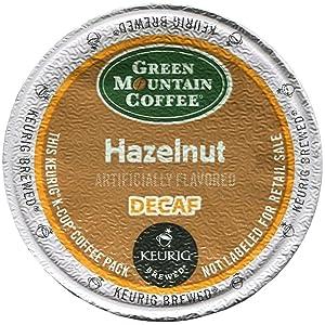 Green Mountain Coffee Keurig Decaf Hazelnut K-Cups 24 Ct