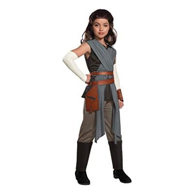 Star Wars Episode VIII - The Last Jedi Deluxe Girl's Rey Costume: Toys & Games