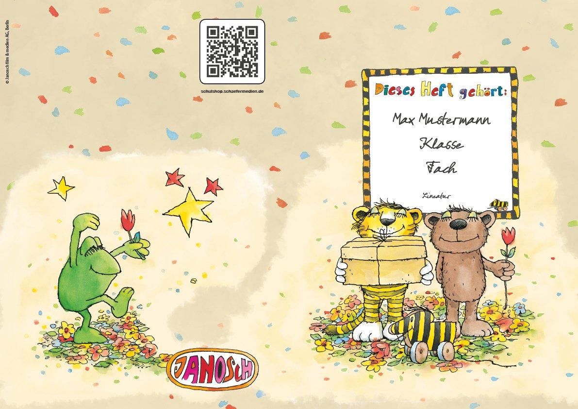 24 lustige JANOSCH-Schulhefte JANOSCH-Schulhefte JANOSCH-Schulhefte A4, »Geheimnisvolles Geschenk«, Lineatur 1, Frühlingsgrün, personalisierbar, 32 Seiten B076K6Y556 | Schön geformt  | Verkauf  | Zu einem erschwinglichen Preis  2d1c6c