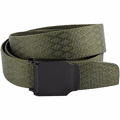 "9Story Tactical Belts for Men Military Style 1.5"" Wide Solid Color Flip Top Buckle Nylon Belt"