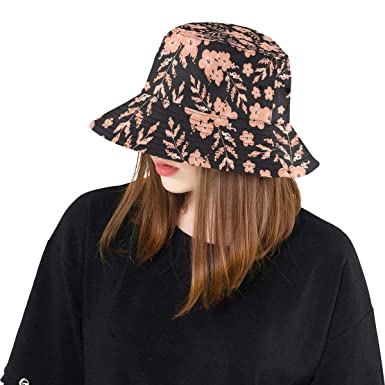854ee6be0a6 Flower Unique Floral Plant New Summer Unisex Cotton Fashion Fishing Sun  Bucket Hats for Kid