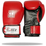 LORDZ Boxing Gloves Punching Glove Training Sparring Synthetic Leather Practice Amateur Gloves Boxing (Red)