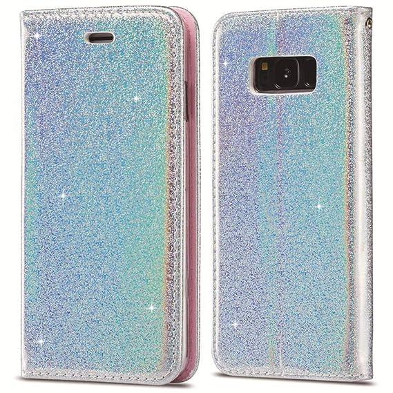 88d1774b9c3 Amazon.com: for Samsung Galaxy S9 Case LAPOPNUT Luxury Bling ...