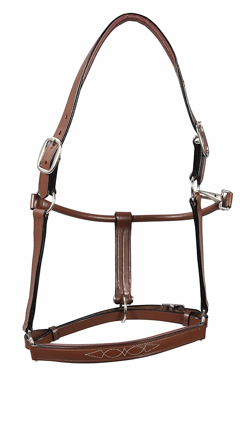 Henri de Rivel HDR Pro Fancy Padded Rolled Throat Halter Horse Oa