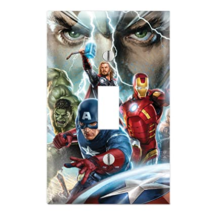 Avengers Decorative Single Toggle Light Switch Wall Plate Cover