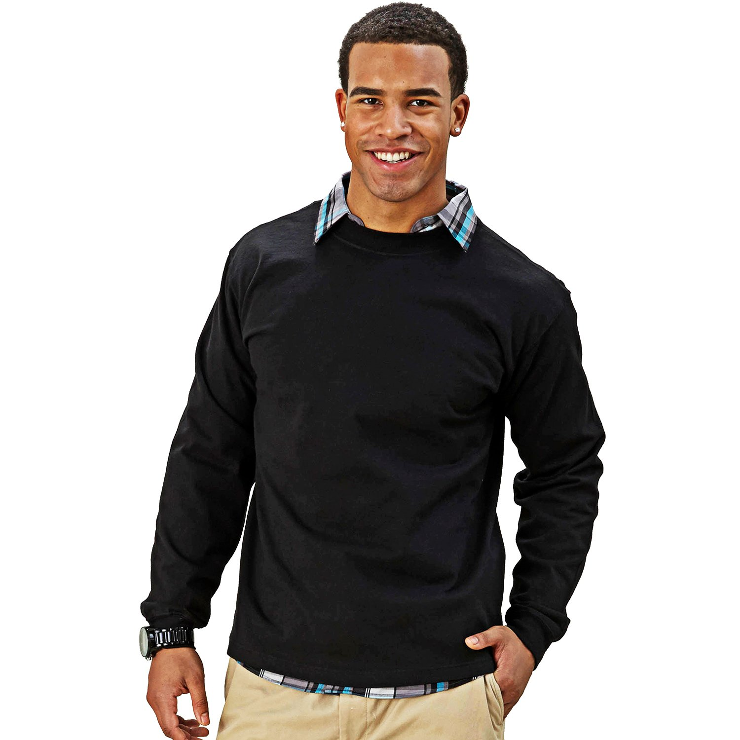 Goodwear Adult Long Sleeve Crew Neck Classic Fit