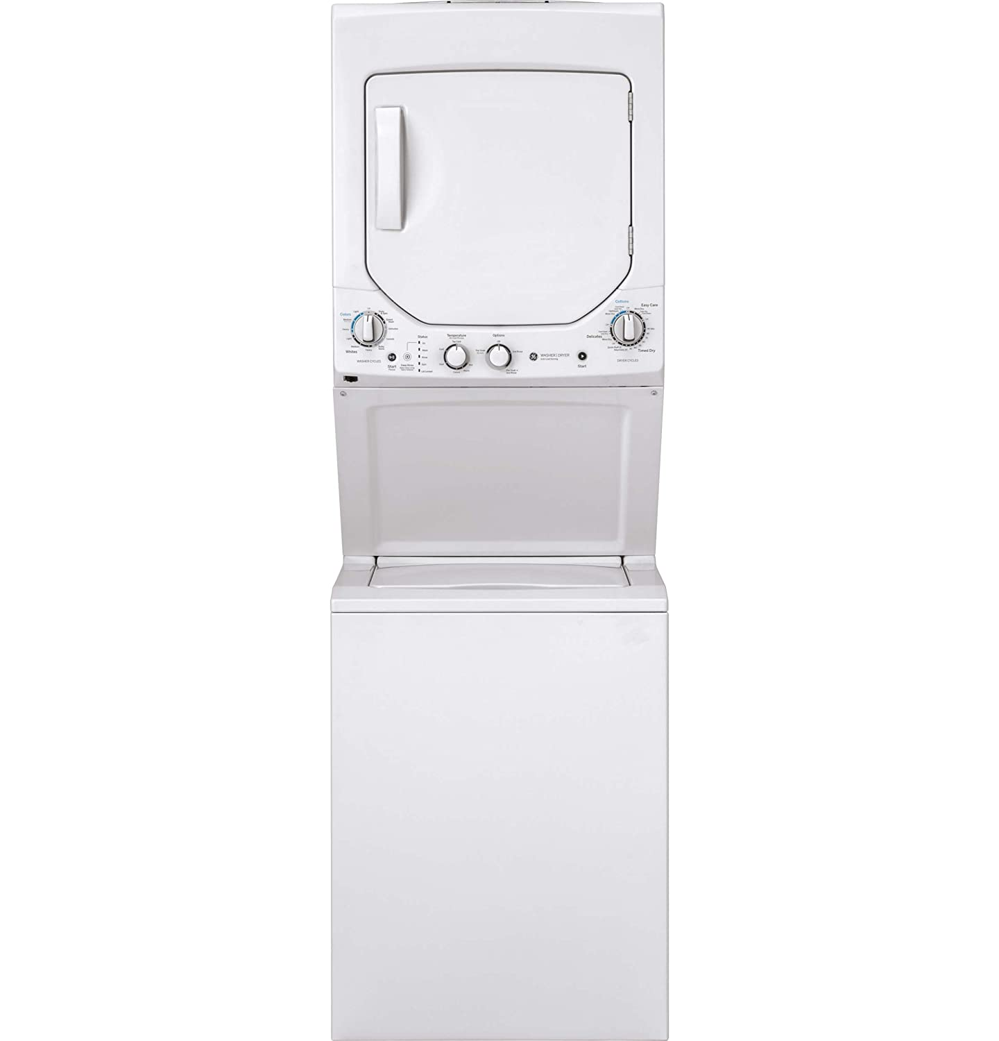 GE GUD24GSSMWW 24 Inch Gas Laundry Center with 2.3 cu. ft. Washer Capacity, in White G.E.