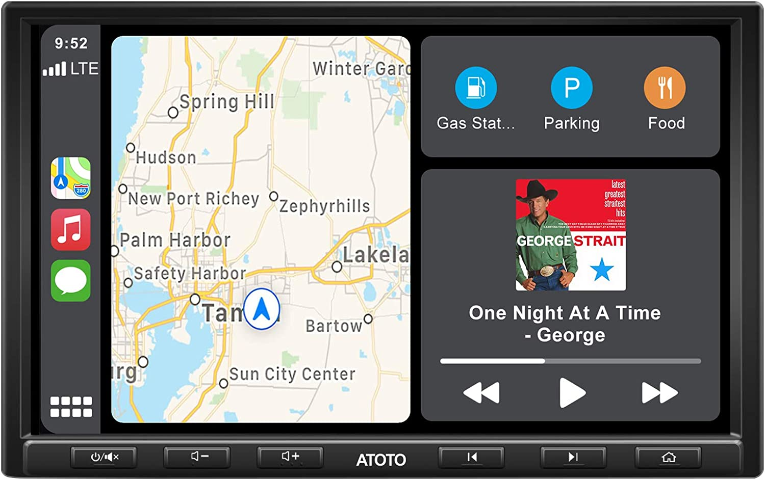 ATOTO 8inch F7G1A8PE in-Dash Video Receiver - F7 Pro CarPlay & Android Auto Receiver with Bluetooth, HD LRV(Live Rearview),Quick Charge,Phone Mirroring,USB/SD (up to 2TB Storage) (SAH08D)