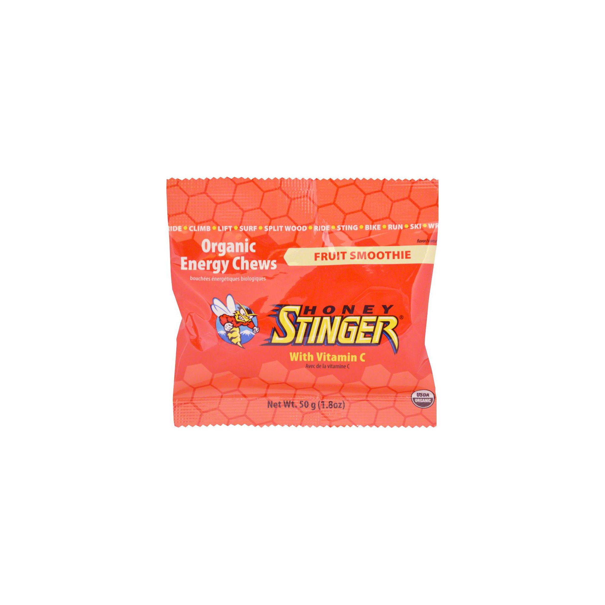 Organic Energy Chews - Fruit Smoothie 12/1.8 Ounce (50 g) Packets