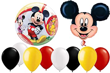 Amazon.com: Juego de 10 globos de Mickey Mouse Disney XL, de ...