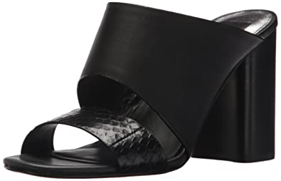 Dolce Vita Womens Rocko Heeled Sandal Black Leather Size 95