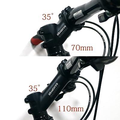 25Degree 31.8 70MM Adjustable Bike Minus Mountain Stems Bike Sports 2021ER