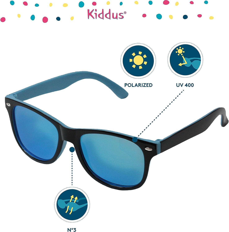 UV400 Protezione al 100/% dai raggi ultravioletti Sicuri Kiddus Ochiali da Sole POLARIZZATI per bambine bambini ragazzo ragazza Da 6 anni leggeri e confortevoli. Resistente agli urti