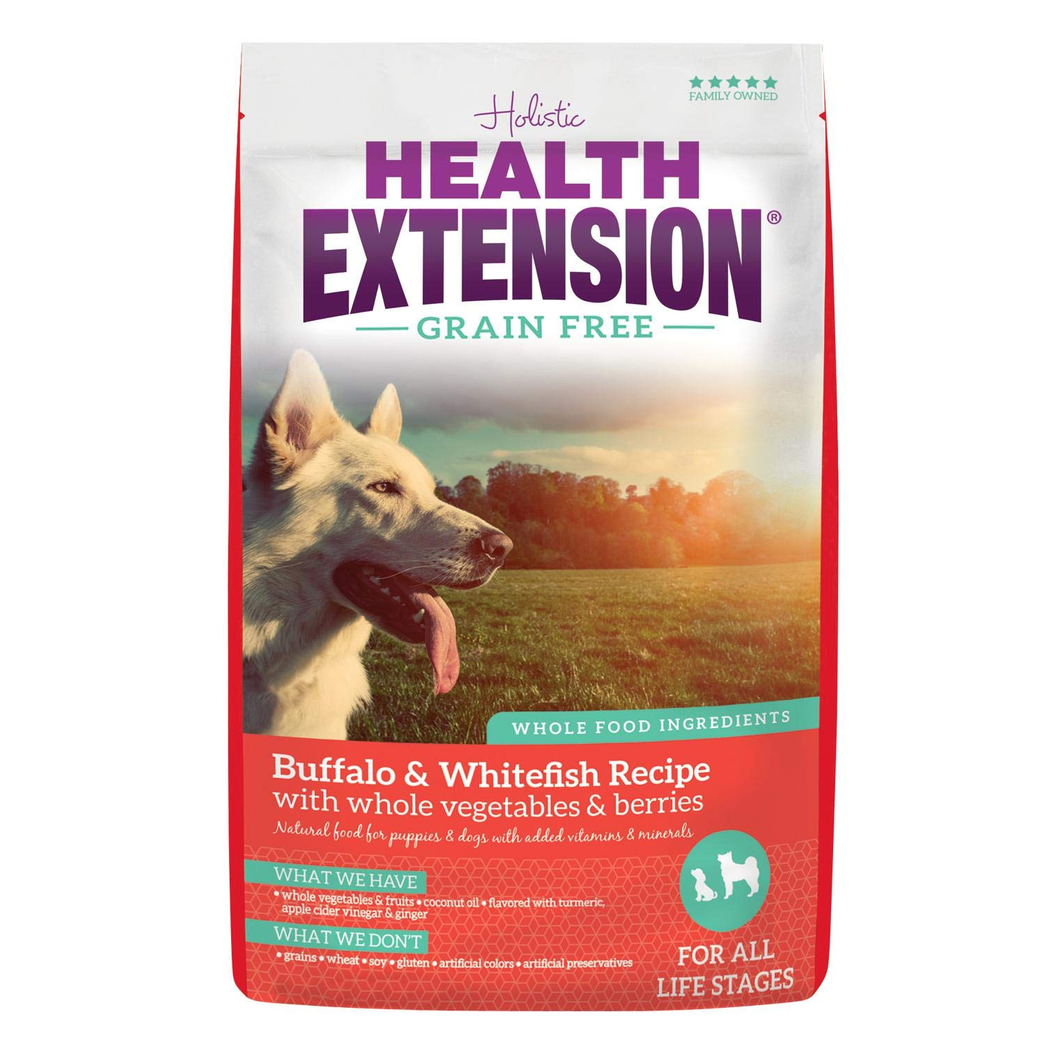 Health Extension Grain Free Dry Dog Food - Buffalo & Whitefish Recipe, 23.5lb by Health Extension