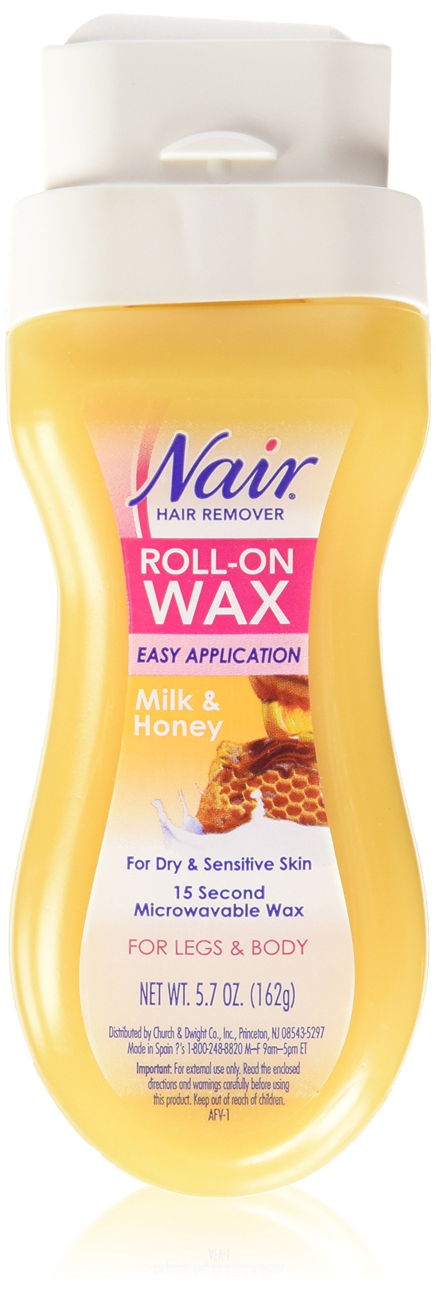 Nair Hair Remover Roll-On Wax 5.7 oz (Pack of 2)