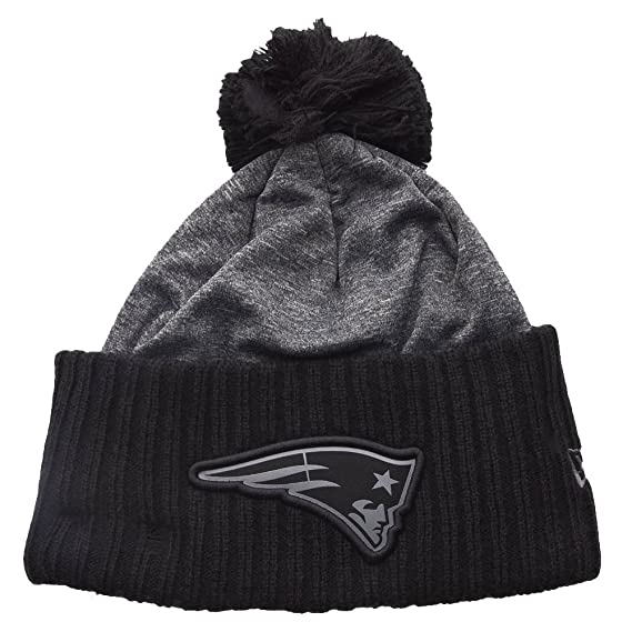 New Era NFL Grey Collection Pom Knit Bobble Hat (New England ... 08c4b7aea05