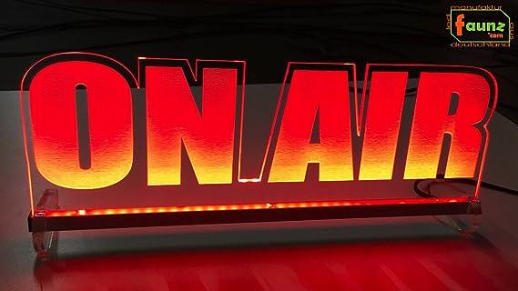 LED Cartel on Air Rojo Opaco como PHC plexiglás de alta ...