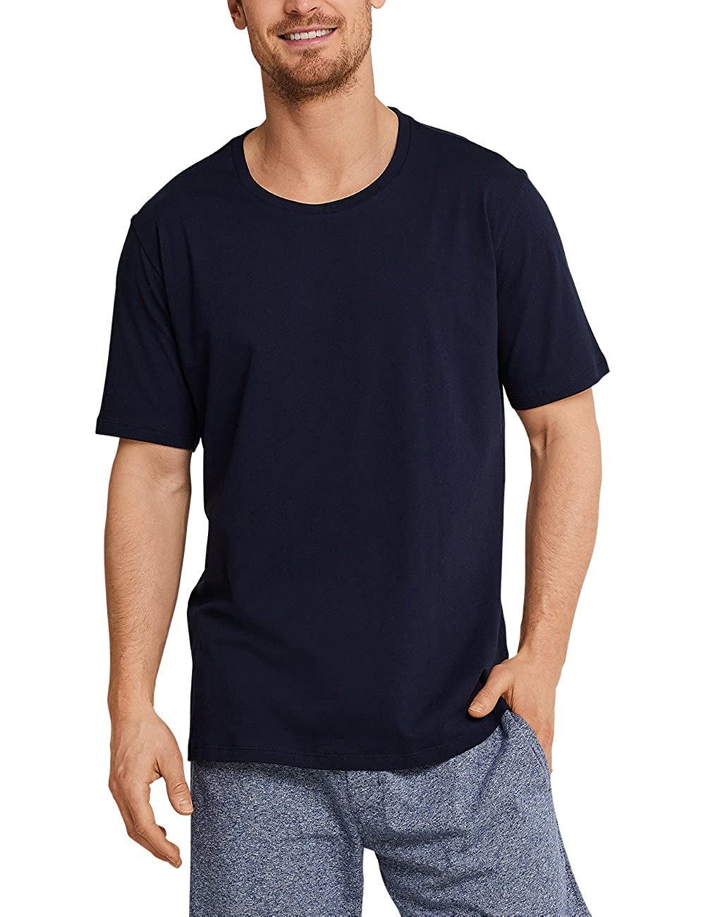 Schiesser Mens Mix /& Relax T-Shirt Rundhals Pyjama Top