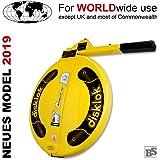 Lenkradkralle + Airbagschutz Disklok L 440 Gelb für Lenkräder mit 41,5-43,5 cm ø (für Linkslenker EU ohne UK)