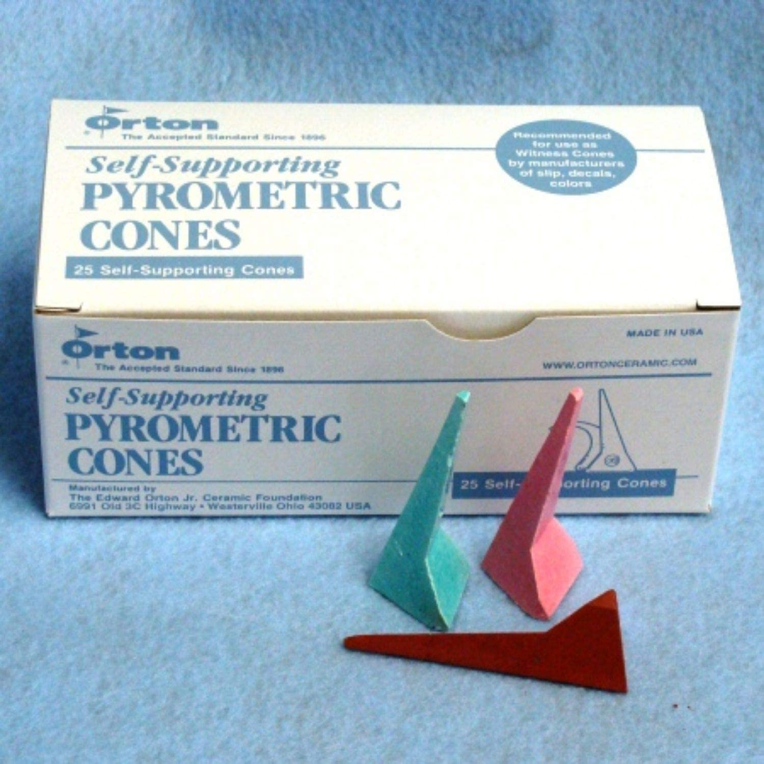 Penguin Pottery Self-Supporting Cones Box of 25 Cone 5 Pyrometric Cones Orton Cones
